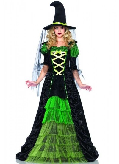 Storybook Witch Costume Gown at Cosplay Costume Closet Halloween Shop, Halloween Cosplay Costumes   Kids, Adult & Plus Size Halloween Costumes