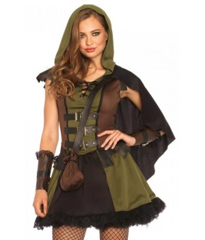 Darling Robin Hood Womens Halloween Costume Cosplay Costume Closet Halloween Shop Halloween Cosplay Costumes | Kids, Adult & Plus Size Halloween Costumes