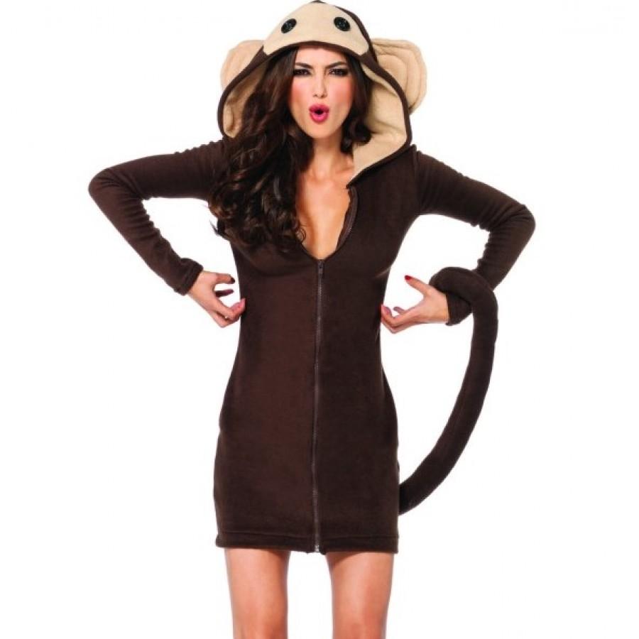 cozy monkey fleece costume at cosplay costume closet halloween cosplay costumes kids adult - Halloween Monkey Costumes