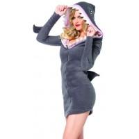 Cozy Shark Womens Costume