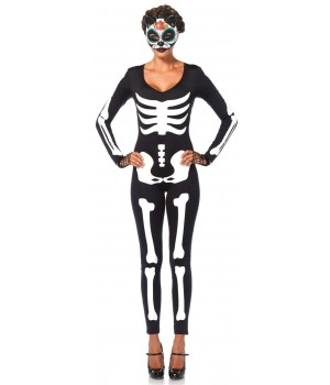 Skeleton Printed Catsuit Cosplay Costume Closet Halloween Shop Halloween Cosplay Costumes | Kids, Adult & Plus Size Halloween Costumes