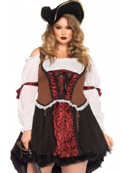 Ruthless Pirate Wench Plus Size Halloween Costume at Cosplay Costume Closet Halloween Shop, Halloween Cosplay Costumes | Kids, Adult & Plus Size Halloween Costumes