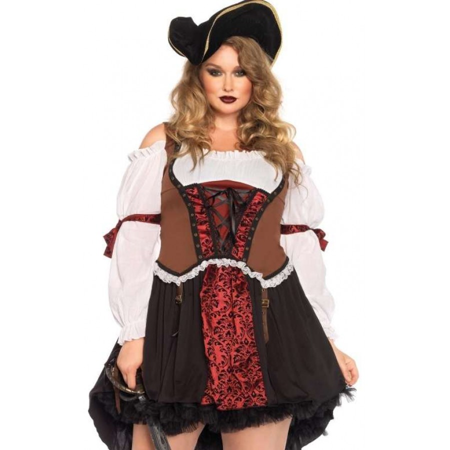 Ruthless Pirate Wench Plus Size Halloween Costume at Cosplay Costume Closet Halloween Cosplay Costumes |  sc 1 st  Cosplay Costume Closet & Ruthless Pirate Wench Plus Size Halloween Costume | Plus Costumes
