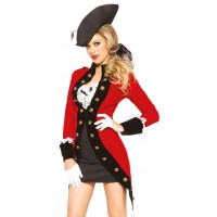 Rebel Red Coat Womens Pirate Costume