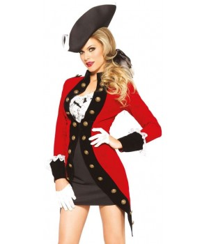 Rebel Red Coat Womens Pirate Costume Cosplay Costume Closet Halloween Shop Halloween Cosplay Costumes | Kids, Adult & Plus Size Halloween Costumes
