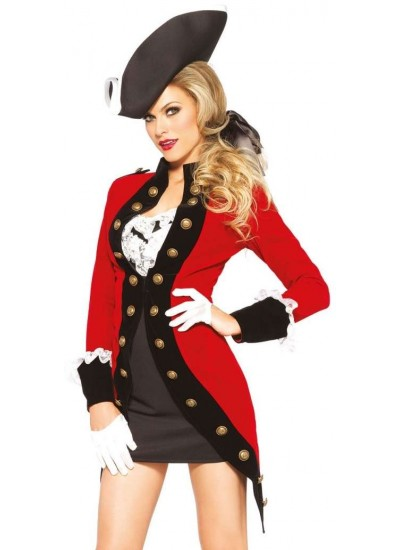 Rebel Red Coat Womens Pirate Costume at Cosplay Costume Closet Halloween Shop, Halloween Cosplay Costumes | Kids, Adult & Plus Size Halloween Costumes