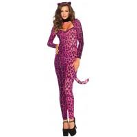 Pretty Pink Pussycat Womens Halloween Costume