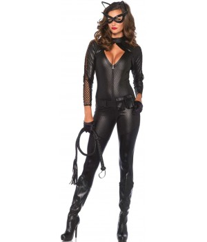 Wicked Kitty Womens Catwoman Costume Cosplay Costume Closet Halloween Shop Halloween Cosplay Costumes | Kids, Adult & Plus Size Halloween Costumes