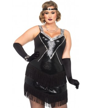 Glamour Flapper Roaring 20s Plus Size Costume Cosplay Costume Closet Halloween Shop Halloween Cosplay Costumes | Kids, Adult & Plus Size Halloween Costumes