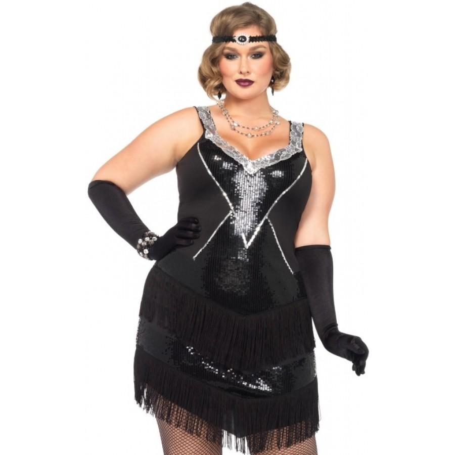 Glamour Flapper Roaring 20s Plus Size Costume | Halloween Costume