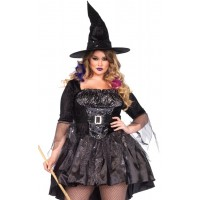 Black Magic Witch Plus Size Halloween Costume