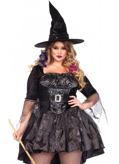 Black Magic Witch Plus Size Halloween Costume at Cosplay Costume Closet Halloween Costume Shop, Halloween Cosplay Costumes | Kids, Adult & Plus Size Halloween Costumes