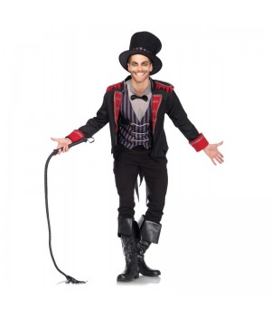 Sinister Ring Master Circus Costume for Men Cosplay Costume Closet Halloween Shop Halloween Cosplay Costumes | Kids, Adult & Plus Size Halloween Costumes