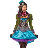 Mad Hatter Deluxe Womens Halloween Costume