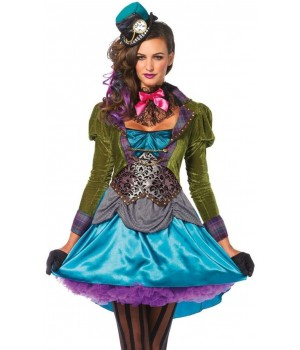 Mad Hatter Deluxe Womens Halloween Costume Cosplay Costume Closet Halloween Shop Halloween Cosplay Costumes | Kids, Adult & Plus Size Halloween Costumes