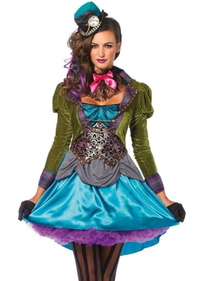 Mad Hatter Deluxe Womens Halloween Costume at Cosplay Costume Closet Halloween Shop, Halloween Cosplay Costumes | Kids, Adult & Plus Size Halloween Costumes