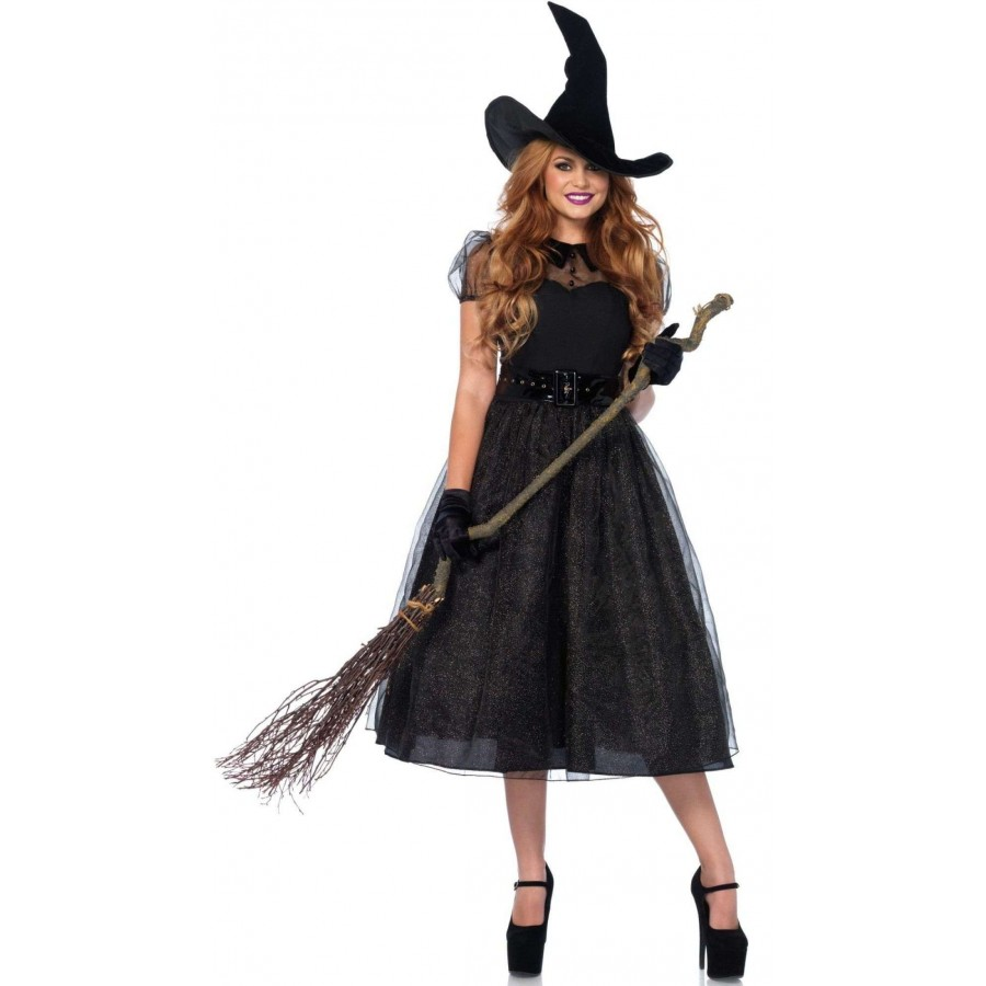Darling Spellcaster Vintage Style Womens Witch Halloween Costume