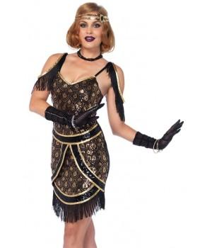 Speakeasy Sweetie Womens Flapper Costume Cosplay Costume Closet Halloween Shop Halloween Cosplay Costumes | Kids, Adult & Plus Size Halloween Costumes