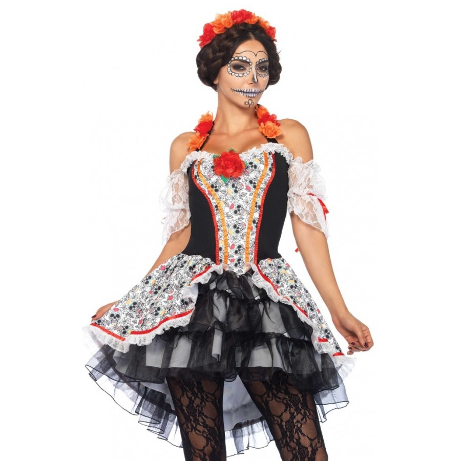 b2651a9b912 Lovely Calavera Sugar Skull Womens Costume at Cosplay Costume Closet  Halloween Costume Shop