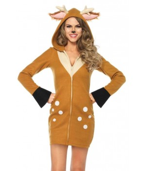 Cozy Fawn Womans Deer Costume Cosplay Costume Closet Halloween Shop Halloween Cosplay Costumes | Kids, Adult & Plus Size Halloween Costumes