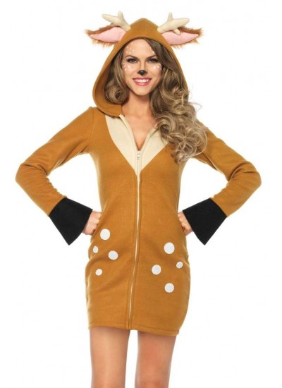 Cozy Fawn Womans Deer Costume at Cosplay Costume Closet Halloween Shop, Halloween Cosplay Costumes | Kids, Adult & Plus Size Halloween Costumes