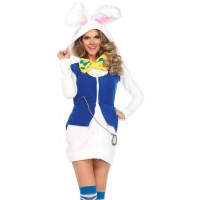 Cozy White Rabbit Womens Wonderland Costume