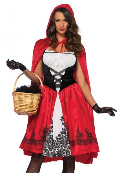 Classic Red Riding Hood Womens Costume at Cosplay Costume Closet Halloween Costume Shop, Halloween Cosplay Costumes | Kids, Adult & Plus Size Halloween Costumes