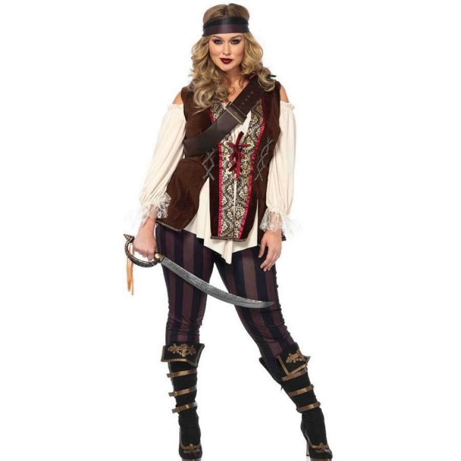 Captain Blackheart Plus Size Womens Pirate Costume | Halloween Costume