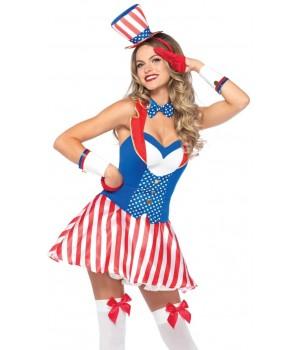 Yankee Doodle Darling Patriotic Womens Costume Cosplay Costume Closet Halloween Shop Halloween Cosplay Costumes | Kids, Adult & Plus Size Halloween Costumes