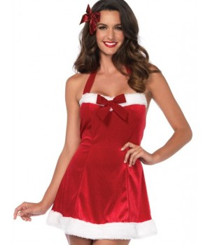 Santas Helper Red Velvet Holiday Dress Cosplay Costume Closet Halloween Shop Halloween Cosplay Costumes | Kids, Adult & Plus Size Halloween Costumes
