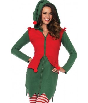 Cozy Elf Holiday Costume for Women Cosplay Costume Closet Halloween Shop Halloween Cosplay Costumes | Kids, Adult & Plus Size Halloween Costumes