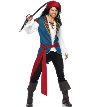 Pirate Scoundrel Mens Halloween Costume Cosplay Costume Closet Halloween Shop Halloween Cosplay Costumes | Kids, Adult & Plus Size Halloween Costumes