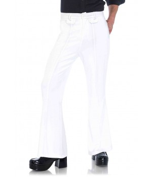 Mens White Bell Bottom Disco Pants Cosplay Costume Closet Halloween Shop Halloween Cosplay Costumes | Kids, Adult & Plus Size Halloween Costumes