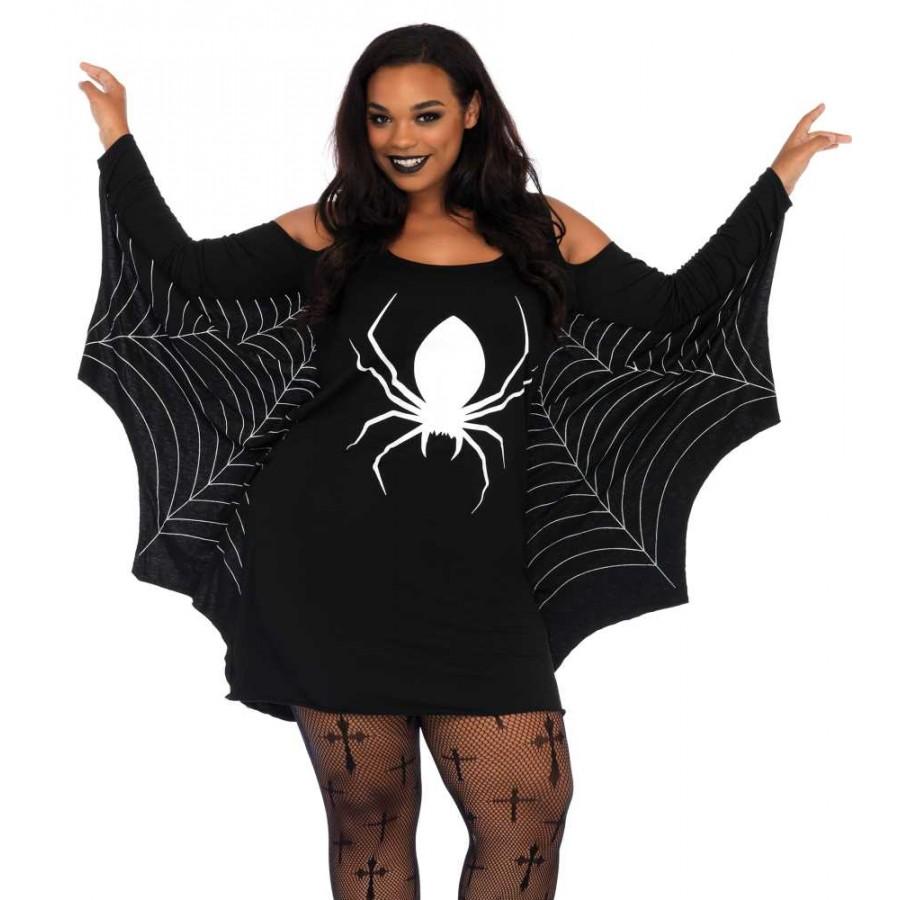 Spiderweb Plus Size Jersey Tunic Dress | Halloween Dress