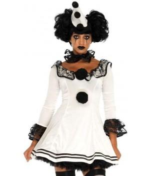 Pierrot Clown Womens Halloween Costume Cosplay Costume Closet Halloween Shop Halloween Cosplay Costumes | Kids, Adult & Plus Size Halloween Costumes