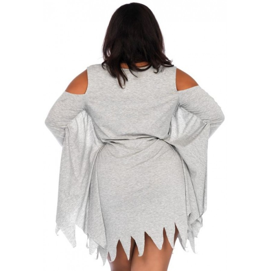 6e458ba6855 ... Ghost Print Jersey Plus Size Dress at Cosplay Costume Closet Halloween  Costume Shop