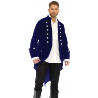 Mens Deluxe Velvet Tail Coat
