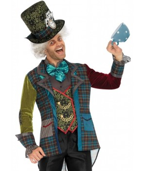 Deluxe Mad Hatter 3 Piece Costume for Men Cosplay Costume Closet Halloween Shop Halloween Cosplay Costumes | Kids, Adult & Plus Size Halloween Costumes