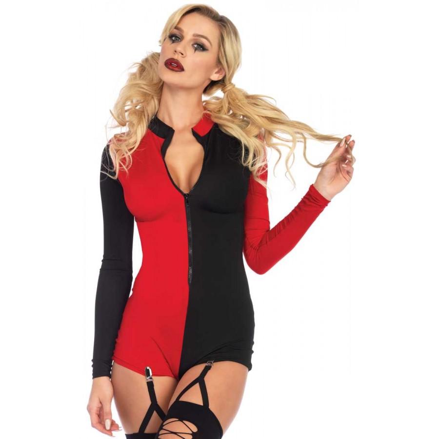 Harlequin Two Tone Romper | Clubwear, Costume, Cosplay
