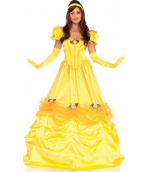 Belle of the Ball Yellow Ballgown Costume Cosplay Costume Closet Halloween Shop Halloween Cosplay Costumes | Kids, Adult & Plus Size Halloween Costumes