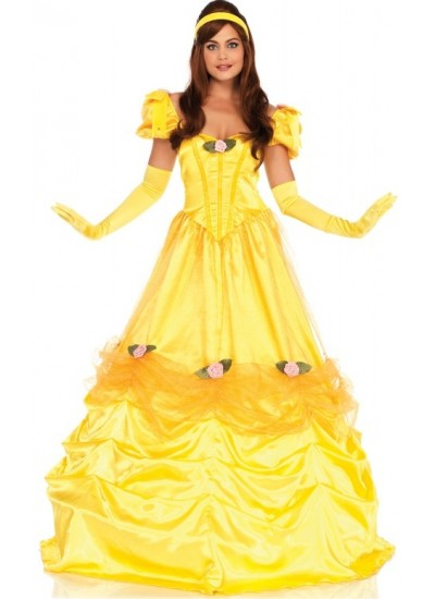 Belle of the Ball Yellow Ballgown Costume at Cosplay Costume Closet Halloween Shop, Halloween Cosplay Costumes | Kids, Adult & Plus Size Halloween Costumes