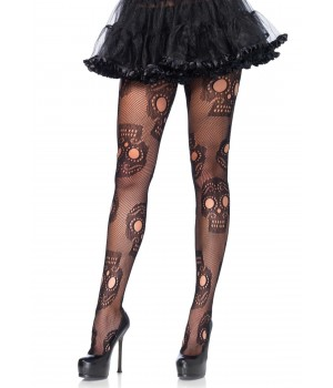 Sugar Skull Gothic Pantyhose - Pack of 3 Cosplay Costume Closet Halloween Shop Halloween Cosplay Costumes | Kids, Adult & Plus Size Halloween Costumes