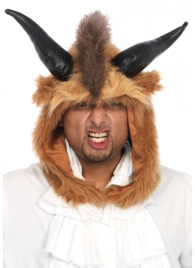 Brutal Beast Furry Hood Costume Hat at Cosplay Costume Closet Halloween Shop, Halloween Cosplay Costumes | Kids, Adult & Plus Size Halloween Costumes