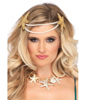 Mermaid Pearl Starfish Headband Cosplay Costume Closet Halloween Shop Halloween Cosplay Costumes | Kids, Adult & Plus Size Halloween Costumes