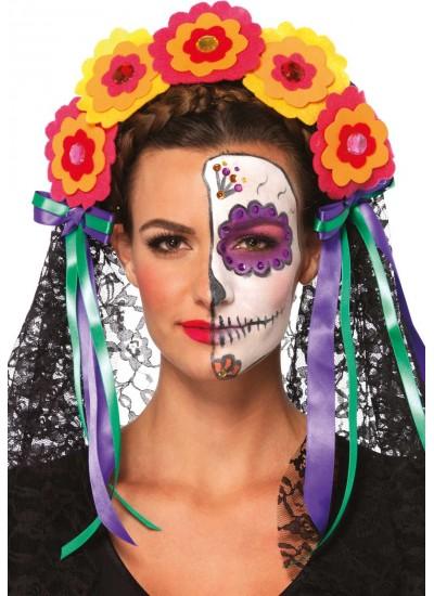 Day of the Dead Flower Headband at Cosplay Costume Closet Halloween Shop, Halloween Cosplay Costumes | Kids, Adult & Plus Size Halloween Costumes