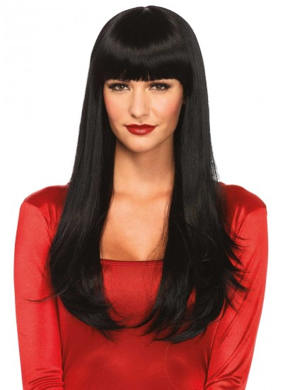 Banging Long Straight Wig at Cosplay Costume Closet Halloween Shop, Halloween Cosplay Costumes | Kids, Adult & Plus Size Halloween Costumes