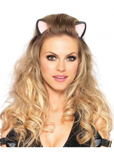Latex Kitty Kat Ear Headband at Cosplay Costume Closet Halloween Shop, Halloween Cosplay Costumes | Kids, Adult & Plus Size Halloween Costumes