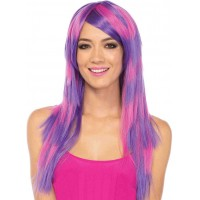 Cheshire Layered Two Tone Long Costume Wig