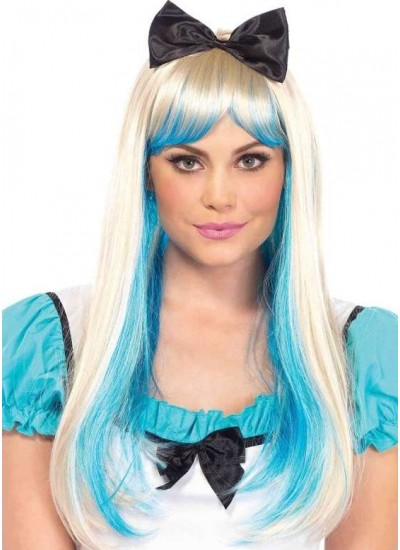 Alice Costume Wig with Bow at Cosplay Costume Closet Halloween Costume Shop, Halloween Cosplay Costumes | Kids, Adult & Plus Size Halloween Costumes