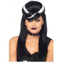 Frankie Bouffant Long Black Gothic Costume Wig